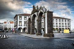 Ponta Delgada, Azoren, Portugal - 20. April 2015: Portas DA Cida Stockfotos