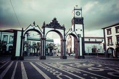 Ponta Delgada, Azoren, Portugal - 20. April 2015: Portas DA Cida Lizenzfreie Stockfotografie