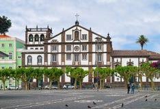 Church of St. Joseph in Ponta Delgada city, Sao Miguel island. PONTA DELGADA, AZORES, PORTUGAL - JUNE 26, 2017: Church of St. Joseph Portuguese: Igreja de Sao stock images
