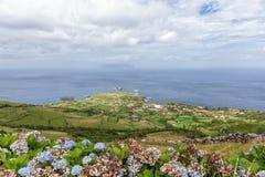 Ponta Delgada e Corvo fotografia de stock royalty free