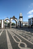 ponta delgada główny plac Obrazy Stock