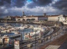 Ponta Delgada harbour stock photos