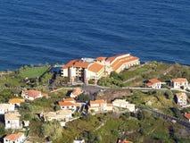 Ponta Delgada, Madeira Island. Aerial view of the village of Ponta Delgada on Madeira Island Royalty Free Stock Photography