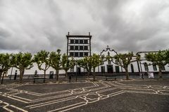 PONTA DELGADA, PORTUGAL - July, 2018: City Gates at the historical center of Ponta Delgada, the capital of Azores Islands. PONTA DELGADA, PORTUGAL - July, 2018 stock images