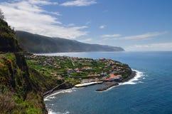 Ponta Delgada stad, madeira Arkivbild