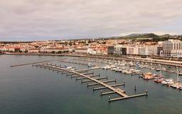 Ponta Delgada Waterfront Royalty Free Stock Images