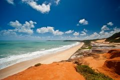 Ponta do Madeiro near Tibau do Sol and Pipa Brazil Royalty Free Stock Images