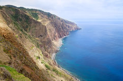 Ponta do Pargo south coastline, Madeira Royalty Free Stock Image