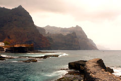 Ponta do Sol Cliffs in Cape Verde Stock Images