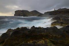 Ponta dos Capelinhos, Faial海岛,亚速尔群岛,葡萄牙 免版税库存图片