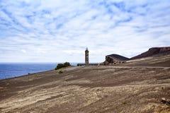 Ponta dos Capelinhos lighthouse Stock Image