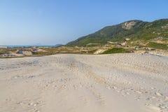 Ponta DOS Ingleses i Costao gör den Santinho stranden arkivbilder