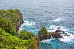 Ponta fa la costa del nord selvaggia delle Madera - di Poiso Fotografie Stock