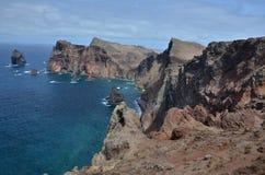 Ponta fa Rosto sull'isola del Madera Fotografie Stock Libere da Diritti