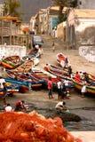 Ponta faz pescadores do solenoide em Cabo Verde Imagem de Stock Royalty Free