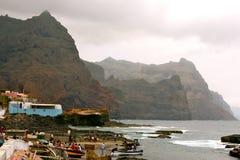 Ponta gör Sol Cliffs i Kap Verde Fotografering för Bildbyråer