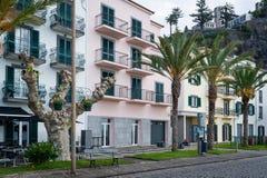 Ponta hace casas y las palmas del terraplén del solenoide Imagen de archivo libre de regalías