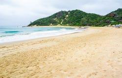 Ponta hace la playa de Ouro en Mozambique Fotos de archivo