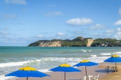 Ponta Negr Morro i plaża robimy Careca - Natal, rio grande robi Norte, Brazylia zdjęcia stock