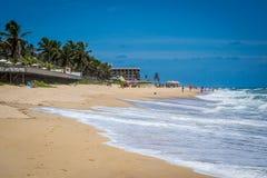 Cities of Brazil - Natal, RN. Ponta Negra Beach and Morro do Careca - Natal, Rio Grande do Norte, Brazil Royalty Free Stock Photos
