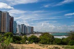 Cities of Brazil - Natal, RN. Ponta Negra Beach and Morro do Careca - Natal, Rio Grande do Norte, Brazil Royalty Free Stock Photography