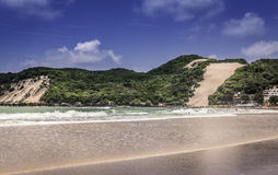 Ponta Negra dunes beach in Natal city Stock Image