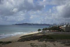 Ponta Negra strand i födelse-, RN, Brasilien arkivbild