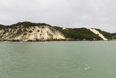 Ponta Negra strand i födelse-, RN, Brasilien royaltyfri foto