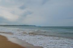 Ponta Robi Ouro plaży i najlepszy plaży w Moz - Turkusowa zieleń Fotografia Royalty Free