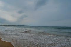 Ponta Robi Ouro plaży i najlepszy plaży w Moz - Turkusowa zieleń Obrazy Royalty Free