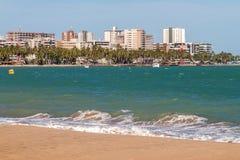 Ponta Verde看法  免版税库存图片