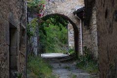 Pontaix,drome,france. Village fleurie dans la drome royalty free stock image