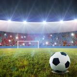 Pontapé de grande penalidade do futebol Fotos de Stock