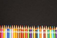 Pontas coloridas do lápis - imagem 3 foto de stock