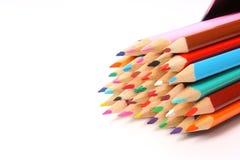 Pontas coloridas do lápis Fotografia de Stock