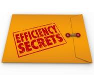 Pontas confidenciais classificadas amarelo do envelope dos segredos da eficiência ilustração royalty free