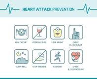 Pontas da prevenção do cardíaco de ataque ilustração stock