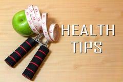 Pontas da saúde Fotografia de Stock Royalty Free