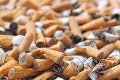 Pontas de cigarro Fotografia de Stock
