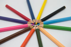 Pontas do pastel Imagem de Stock