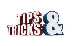 Pontas e ícone dos truques em um fundo branco Fotografia de Stock