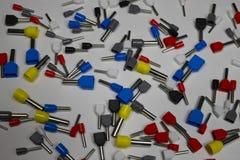 Pontas para fios de friso fotografia de stock