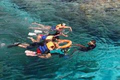 Pontas Snorkeling Foto de Stock Royalty Free