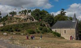 Pontchateau,法国- 2016年9月11日:十字架的方式和 库存照片