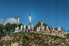 Pontchateau,法国- 2016年9月11日:十字架的方式和 图库摄影