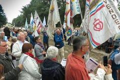 Pontchateau, France - 11 septembre 2016 : Célébration de 300 Ann Image stock
