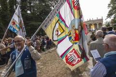 Pontchateau, Francia - 11 de septiembre de 2016: Celebración de 300 Ana Fotos de archivo