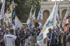 Pontchateau, Francia - 11 de septiembre de 2016: Celebración de 300 Ana Fotografía de archivo