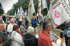 Pontchateau, Frankreich - 11. September 2016: Feier von 300 Ann Stockbild