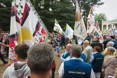 Pontchateau, Frankrijk - September 11, 2016: Viering van 300 ann Stock Fotografie